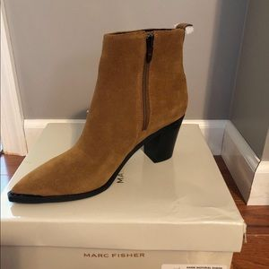 New! Marc Fisher Nellien Suede Booties